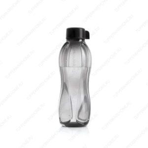 Эко-бутылокa с крышкой (1 л) в черном цвете