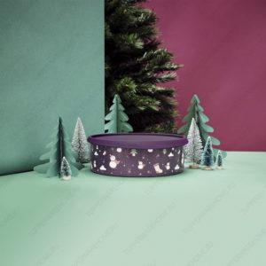Контейнер «В одно касание» «Снеговик» 2,4 л