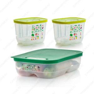Набор контейнеров «Умный холодильник» (1,8 л высокий × 2 шт./ 1,8 л низкий)